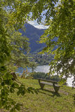 Tranquil place with lake view tegernsee Royalty Free Stock Images