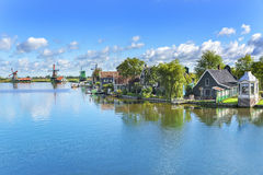 Tranquil place. Zaanse Schans. Amazing Dutch Royalty Free Stock Photography