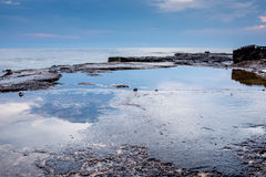 Tranquil rock pool overlooking the ocean Royalty Free Stock Photo