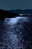 Tranquil rocky kerry starry night view Stock Image