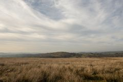Tranquil rural wilderness landscape image. With copy space royalty free stock photography