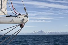 Tranquil sailing in svalbard Stock Photography