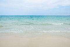Tranquil scene of beach with blue sea and white sand in Samed is Royalty Free Stock Photography