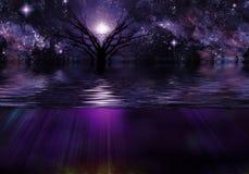 Tranquil Scene. Of deep purple Royalty Free Stock Image