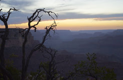 Tranquil scene of Grand Canyon after sunset Royalty Free Stock Images