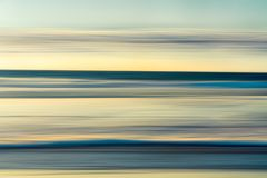 Tranquil Scene, Ocean Sunset Abstract Background, Cyan and Yellow Colors,Horizon Over Water, royalty free stock photos