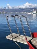 Boat prow in Rijeka city port Croatia Royalty Free Stock Photography