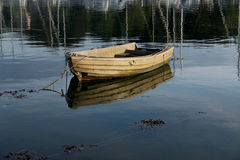 Tranquil scene of rowing boat Royalty Free Stock Image