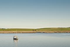 Tranquil scene, Tamar River, Tasmania stock photo