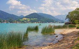 Tranquil scenery at lake tegernsee Royalty Free Stock Image