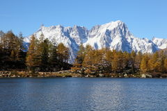 Tranquil scenery near Mont Blanc Stock Photography