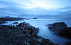 Tranquil sea in south east iceland Royalty Free Stock Photography