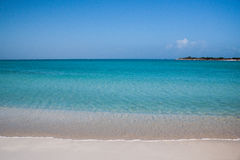 Tranquil Sea of Turks and Caicos. Clear blue waters surround the island of Providenciales, Turks and Caicos Stock Images