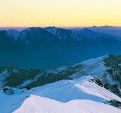 Tranquil snow mountain scenery Royalty Free Stock Photo