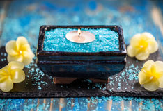 Tranquil spa relaxation setting Royalty Free Stock Images