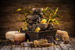 Tranquil spa relaxation setting Royalty Free Stock Photo