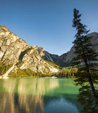 Tranquil summer Italian dolomites mountain lake Royalty Free Stock Images
