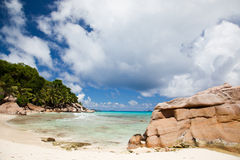 Tranquil tropical beach and bay Stock Image