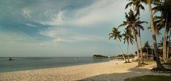 Tranquil tropical beach - Malapascua Island - Philippines Royalty Free Stock Photo