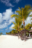 Tranquil tropical beach on Mauritius Royalty Free Stock Photography