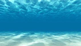 Tranquil underwater scene 3D render stock images