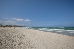 Tranquil view of beach, Sousse, Tunisia Royalty Free Stock Images