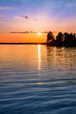 Tranquil view of a beautiful sunset in Sweden Royalty Free Stock Photography