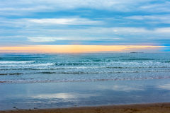 Tranquil view over the sea at Bamburgh England Royalty Free Stock Photos
