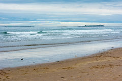 Tranquil view over the sea at Bamburgh England Stock Image