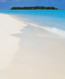 Tranquil view of a tropical island. From the beach Stock Photography