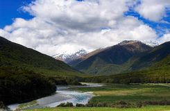 Tranquil Village. Tranquil quiet village in New Zealand Royalty Free Stock Photography