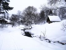 Tranquil winter landscape Stock Image