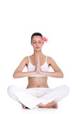 Tranquil woman meditating Royalty Free Stock Image