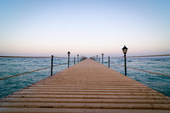 Tranquil wooden pier Stock Photography