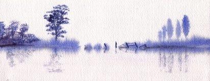 Tranquilidad en azul Imagenes de archivo
