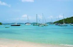 Tranquilidade em Cruz Bay, USVI fotografia de stock royalty free