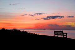 Tranquilité de coucher du soleil Image libre de droits