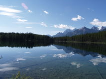 Tranquility. Perfect reflection of the Canadian Rocky mountains Royalty Free Stock Photos