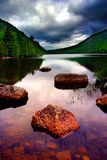 Tranquility. Taken at Eagle Lake, Acadia National Park, Maine, USA on a stormy day Royalty Free Stock Images