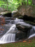 Tranquility. Unknown waterfall, appalachia, new hampshire royalty free stock photo