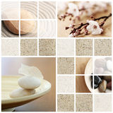 Tranquility collage. Mosaic of serene, zen-like, tranquil, spa images