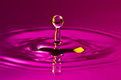 Tranquility conceptual. Calm droplet splash in a water Stock Images
