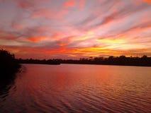 Tranquility& x27 de coucher du soleil ; ‹de s†Images stock