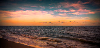 Tranquility on the Gulf. A sunset over the Gulf of Mexico Stock Photo