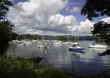 Tranquility on Lake Windermere. Peace and Tranquility at Lake Windermere Cumbria Royalty Free Stock Image