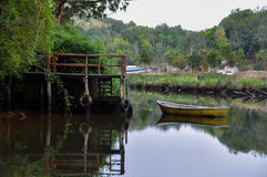 Tranquility and reflections, Chiloé Island, Chile Royalty Free Stock Photos