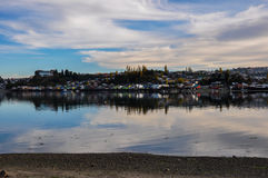 Tranquility and reflections, Chiloé Island, Chile Royalty Free Stock Photography