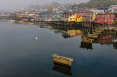 Tranquility and reflections, Chiloé Island, Chile Stock Photos
