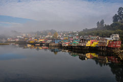 Tranquility and reflections, Chiloé Island, Chile Royalty Free Stock Images