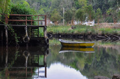 Tranquility and reflections, Chiloé Island, Chile Stock Photography